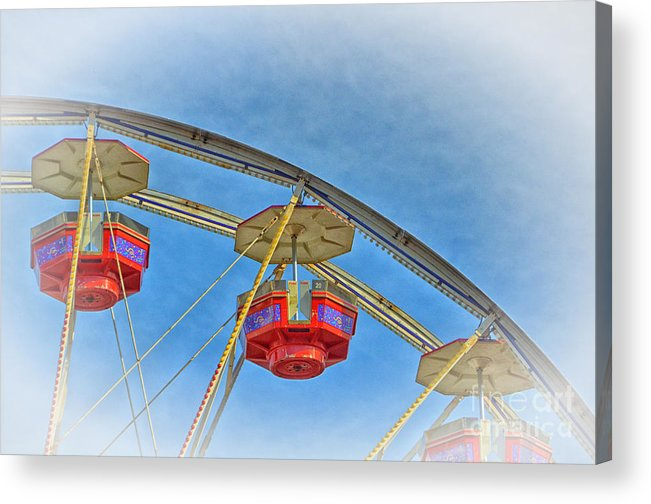 Blue Acrylic Print featuring the photograph Birds Eye View by Tamera James