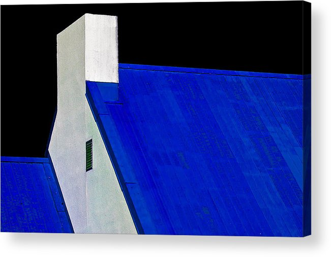 Black Acrylic Print featuring the photograph Black White And Blue by Burney Lieberman