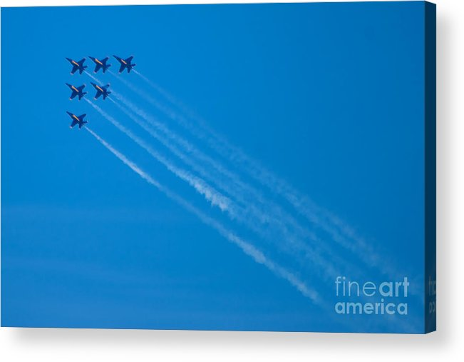 Blue Angels Acrylic Print featuring the photograph Blue Angel 29 by Mark Dodd