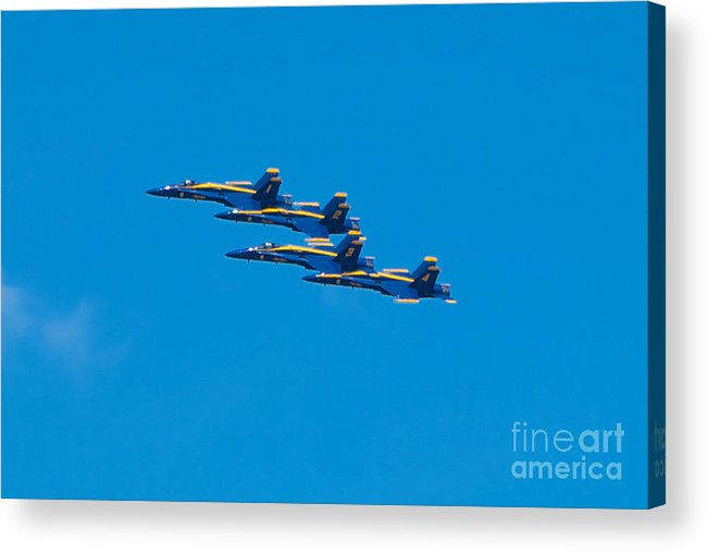 Blue Angels Acrylic Print featuring the photograph Blue Angels by Mark Dodd