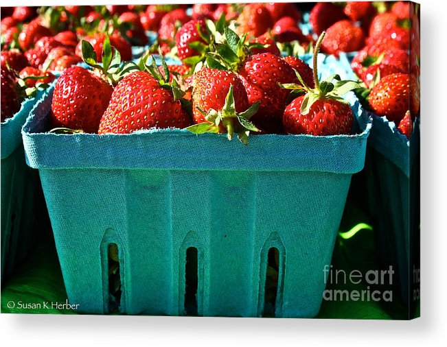Food Acrylic Print featuring the photograph Blue Box by Susan Herber