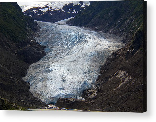 Alaska Acrylic Print featuring the photograph Blue Glacier by Kim French