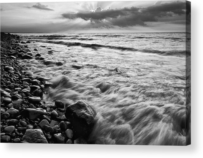 Darren Creighton Acrylic Print featuring the photograph Bluffs Beach Sunset 4 by Darren Creighton