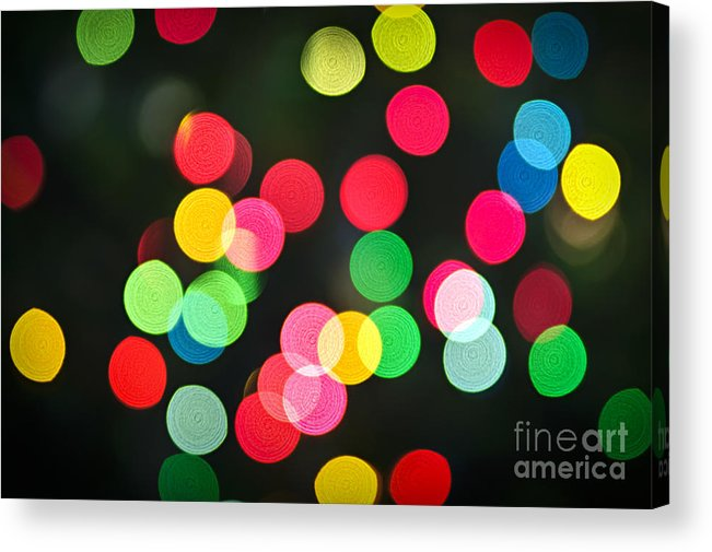 Blurred Acrylic Print featuring the photograph Blurred Christmas Lights by Elena Elisseeva