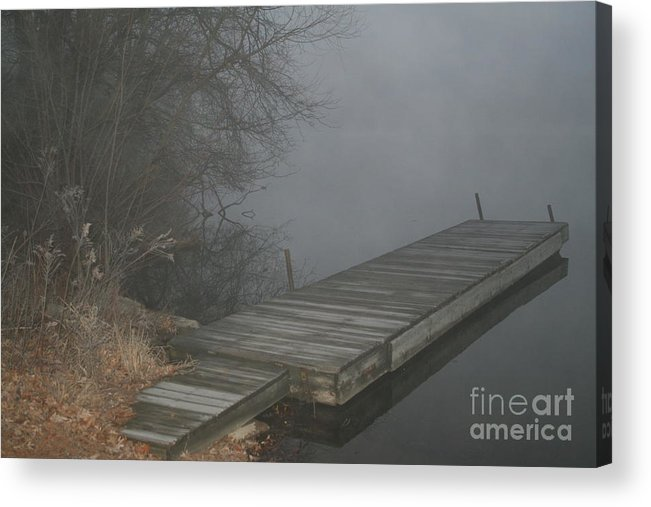 Boat Acrylic Print featuring the photograph Boat Dock To No Where by Roger Look