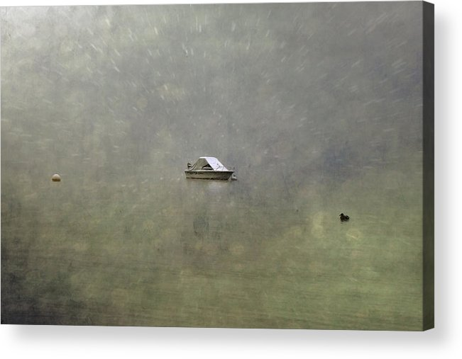Boat Acrylic Print featuring the photograph Boat In The Snow by Joana Kruse