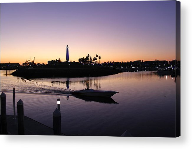 Sunset Acrylic Print featuring the photograph Boating by Caroline Lomeli