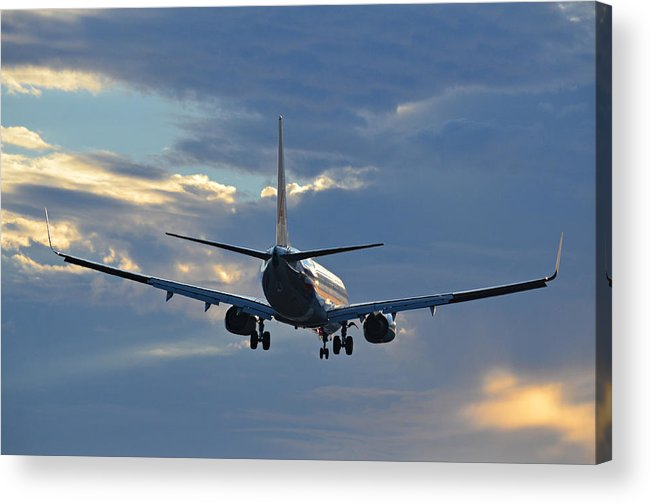 Aviation Acrylic Print featuring the photograph Bon Voyage by Fraida Gutovich