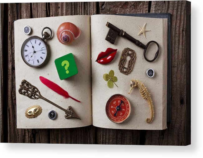 Book Acrylic Print featuring the photograph Book Of Secrets by Garry Gay