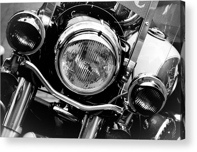 Transportation Acrylic Print featuring the photograph Boston Police Harley by Mike Martin