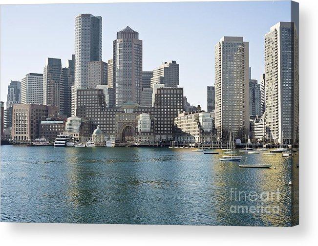 Acrylic Print featuring the photograph Boston Skyline by Darwin Lopez