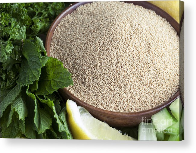 Dinner Acrylic Print featuring the photograph Bowl Of Amaranth Seeds by Charlotte Lake
