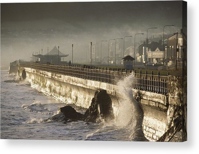 Promenade Acrylic Print featuring the photograph Bray Promenade, Bray, County Wicklow by The Irish Image Collection
