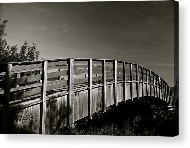 Jezcself Acrylic Print featuring the photograph Bridge To The Falls by Jez C Self