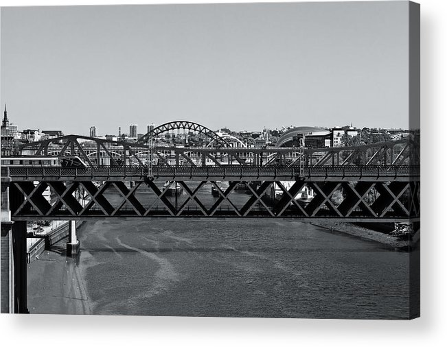 England Acrylic Print featuring the photograph Bridges Of Newcastle On Tyne by Gary Finnigan