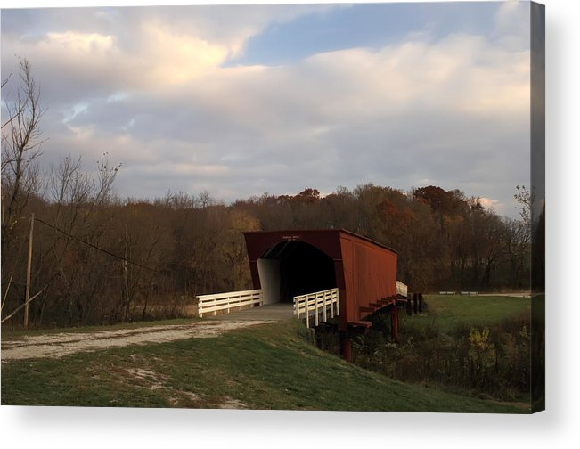 Covered Bridges Of Iowa Madison County Acrylic Print featuring the photograph Built In 1883 Roseman Bridge by Randall Branham