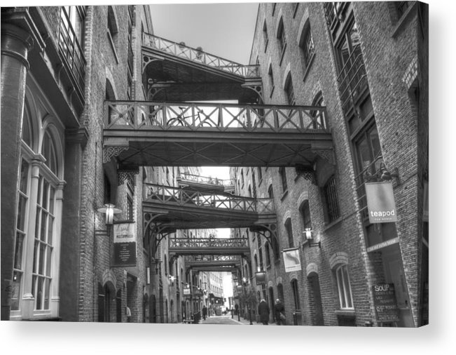 Butlers Wharf Acrylic Print featuring the photograph Butlers Wharf London by David French