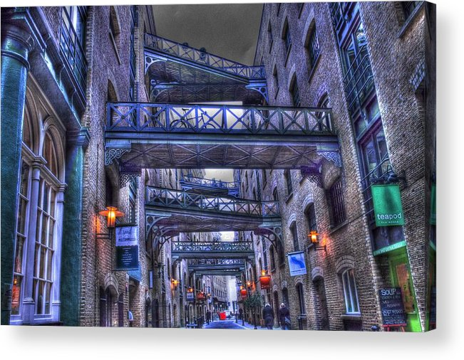 Butlers Wharf Acrylic Print featuring the photograph Butlers Wharf London Hdr by David French