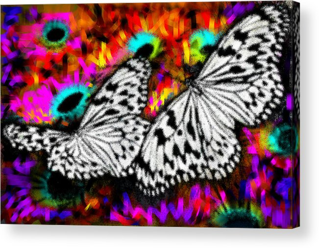 Nature Acrylic Print featuring the digital art Butterfly by Ilias Athanasopoulos