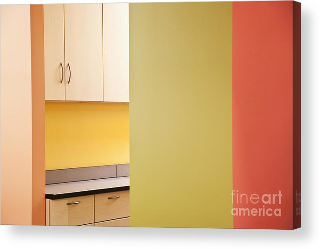 Architecture Acrylic Print featuring the photograph Cabinets In An Office Supply Room by Jetta Productions, Inc