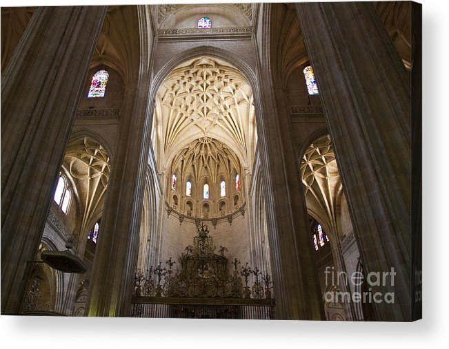 Cathedral Acrylic Print featuring the photograph Catedral De Segovia by Scotts Scapes