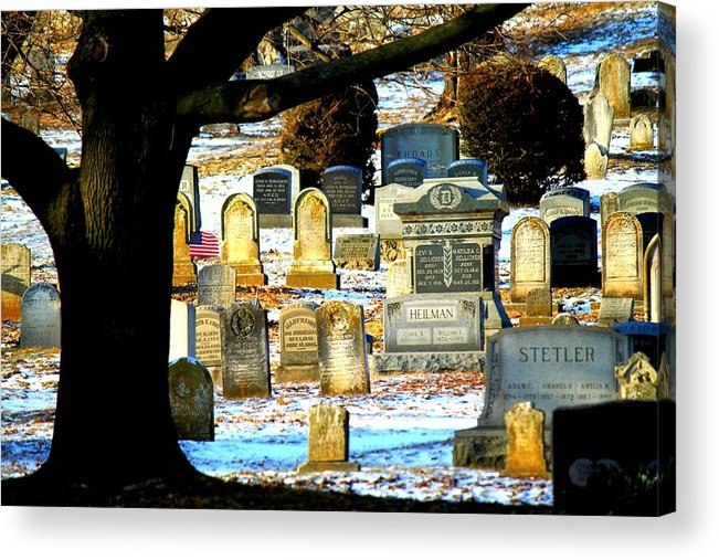 Cemetery Acrylic Print featuring the photograph Cemetery by Noel Christman