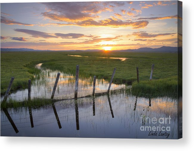 Idaho Acrylic Print featuring the photograph Centennial Sunset by Idaho Scenic Images Linda Lantzy
