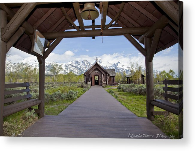 Grand Tetons Acrylic Print featuring the photograph Chapel Of Transfiguration 1 by Charles Warren