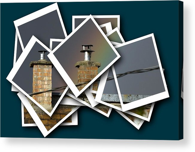 Architectural Acrylic Print featuring the photograph Chimney On A Roof by Odon Czintos