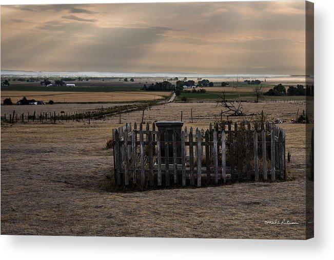 Western Nebraska Acrylic Print featuring the photograph Chimney Rock Cemetery by Edward Peterson