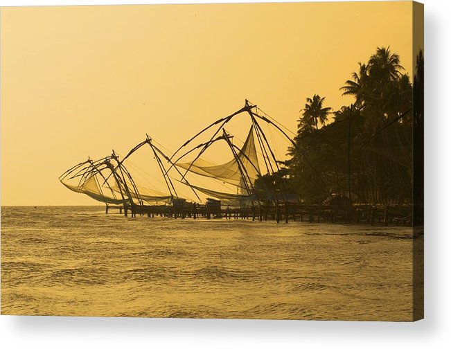 Fishing Acrylic Print featuring the photograph Chinese Fishing Nets by Valerie Rosen