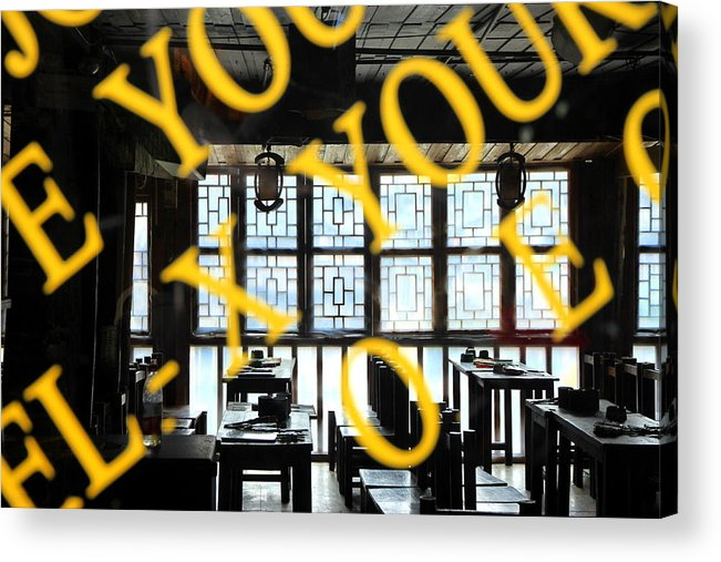 Chinese Acrylic Print featuring the photograph Chinese Restaurant by Valentino Visentini