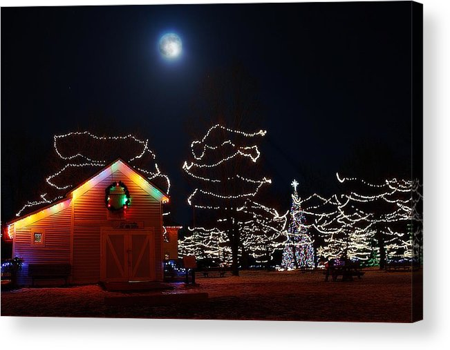 Hovind Acrylic Print featuring the photograph Christmas Moon by Scott Hovind