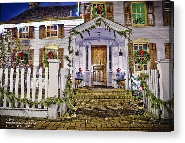 Main Street Acrylic Print featuring the photograph Christmas On Main Street by Vicki Jauron