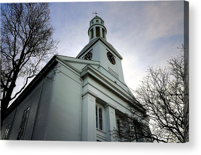 Rockport Acrylic Print featuring the photograph Church In Perspective by Mark Valentine