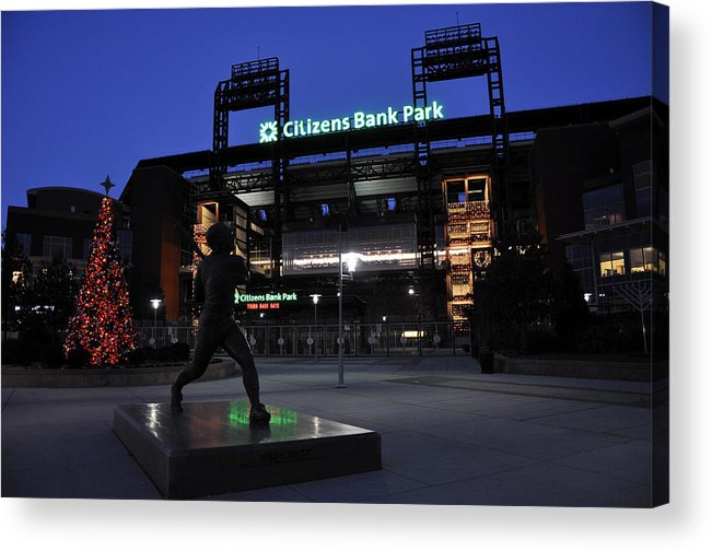 Citizens Bank Park Acrylic Print featuring the photograph Citizens Bank Park by Andrew Dinh