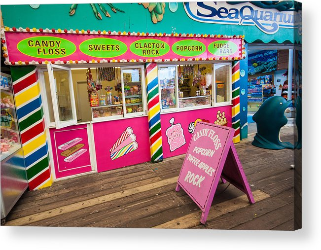 Beach Acrylic Print featuring the photograph Clacton Pier Shop by Dawn OConnor