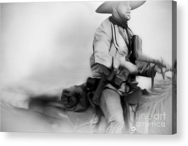 Reenactment Acrylic Print featuring the mixed media Clearing Smoke by Kim Henderson