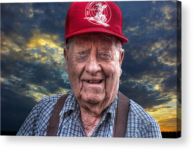 Acrylic Prints Acrylic Print featuring the photograph Cliff - Proud Member Of Napanee's Walker Brigade by John Herzog