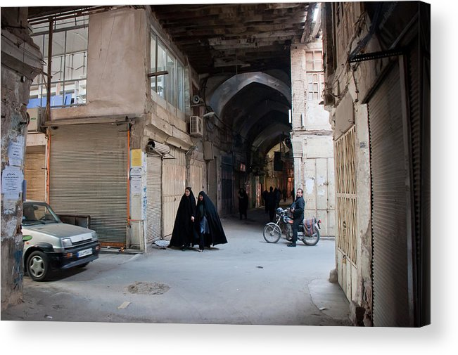 Iran Acrylic Print featuring the photograph Closed Bazar In Esfahan by Thijs Vrijstaat