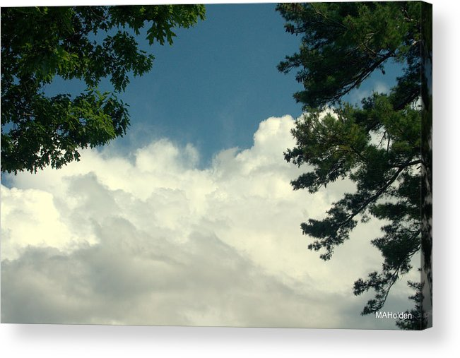 Clouds Over Malletts Bay Acrylic Print featuring the photograph Clouds At Malletts Bay by Mark Holden