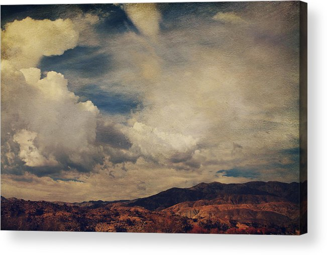 Palm Desert Acrylic Print featuring the photograph Clouds Please Carry Me Away by Laurie Search