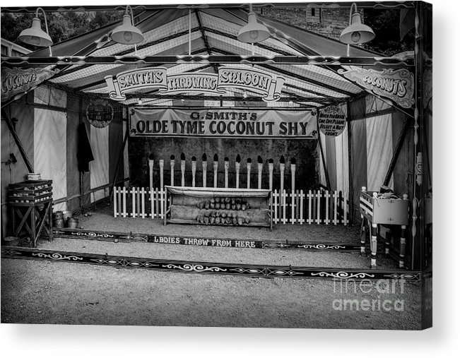 British Acrylic Print featuring the photograph Coconut Shy 2 by Adrian Evans