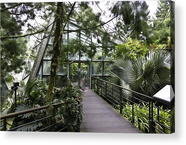 Asia Acrylic Print featuring the photograph Cool House Inside The National Orchid Garden In Singapore by Ashish Agarwal