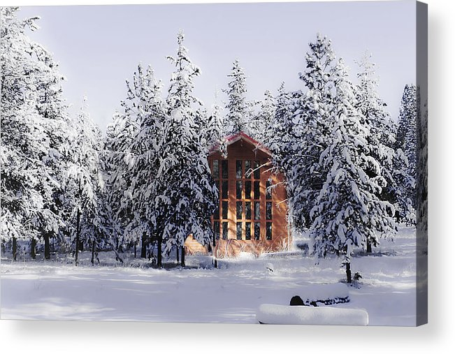 Snow Acrylic Print featuring the photograph Country Christmas by Janie Johnson