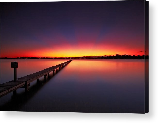 Sylvania Waters Acrylic Print featuring the photograph Cresent Rays by Mark Lucey
