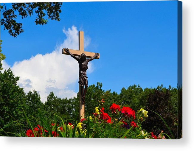 Crucifix Acrylic Print featuring the photograph Crucifix In Indian River by Ted Kitchen