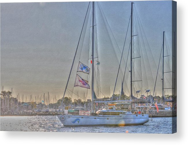 Live Life's Adventures Acrylic Print featuring the digital art Crusing by Barry R Jones Jr