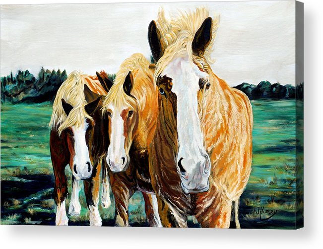 Acrylic Print featuring the painting Curiosity by Mike Kinsey