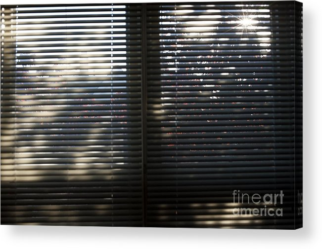 Blinds Acrylic Print featuring the photograph Curtains by Steven Dunn